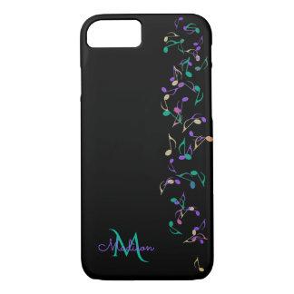 Cascading Music Notes Monogram iPhone 7  Case
