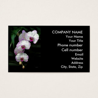 Cascading Orchid Beauties Business Card