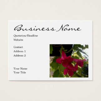 Cascading Red Lofus Blooms Business Card