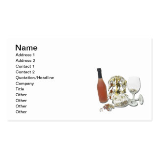 Cascading Stars and Wine Double-Sided Standard Business Cards (Pack Of 100)