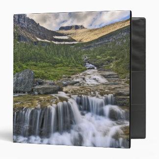 Cascading stream, Glacier National Park, 3 Ring Binders
