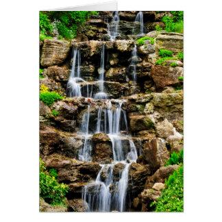 Cascading waterfall card