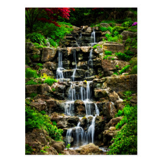 Cascading waterfall postcard
