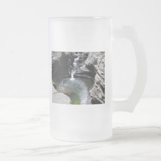 Cascading Waterfalls Green Pool Frosted Glass Beer Mug