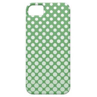 Cascading White circles on lime green iPhone SE/5/5s Case