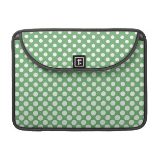 Cascading White circles on lime green Sleeves For MacBook Pro