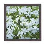 Cascading white flowers premium gift box
