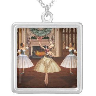 Cascanueces - collar de plata cuadrado de las bail