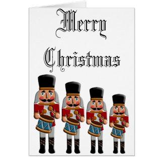 Cascanueces colorido retro del navidad felicitación