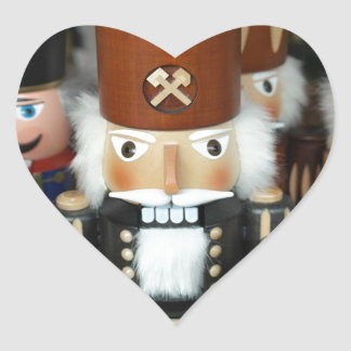 Cascanueces del navidad pegatina de corazon personalizadas