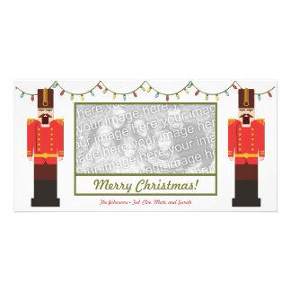 Cascanueces, Felices Navidad, plantilla de la Tarjetas Con Fotos Personalizadas