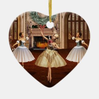Cascanueces - ornamento francés del corazón de adornos de navidad