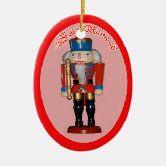 Cascanueces Rojo Adorno Navidad Ceramic Ornament