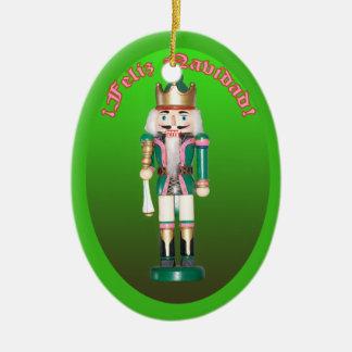 Cascanueces Verde Adorno Navideño Ceramic Ornament