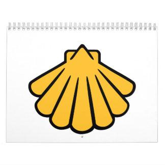 Cáscara amarilla calendario