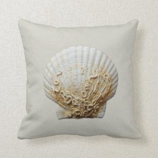 Cáscara de concha de peregrino almohadas