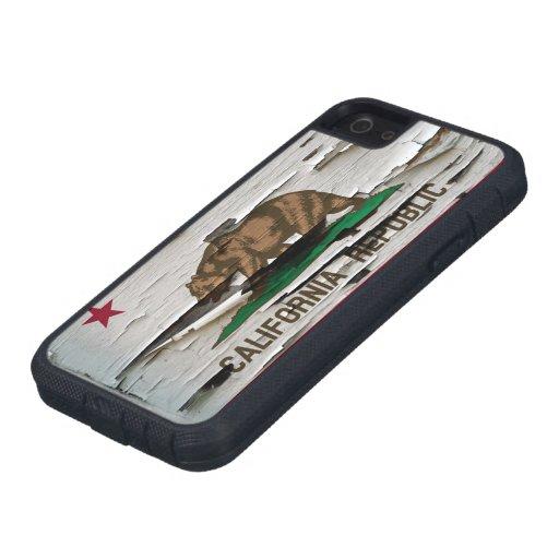 Cáscara de la pintura de la bandera de California iPhone 5 Case-Mate Coberturas