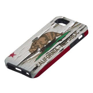 Cáscara de la pintura de la bandera de California iPhone 5 Carcasas