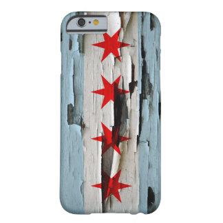 Cáscara de la pintura de la bandera de Chicago Funda Para iPhone 6 Barely There