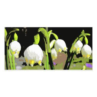 Cáscara de la primavera tarjetas personales