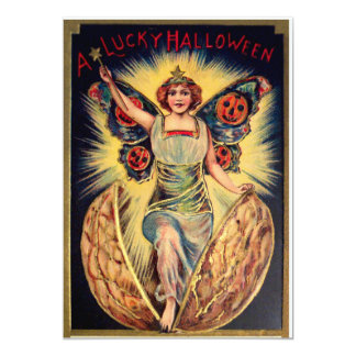 "Cáscara de nuez de Halloween Invitación 5"" X 7"""