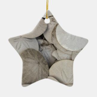 Cáscara del mar de los dólares de arena adorno de cerámica en forma de estrella