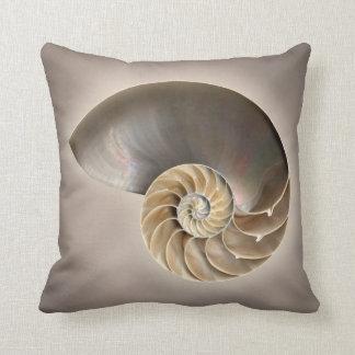 Cáscara del nautilus almohadas