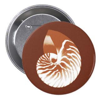Cáscara del nautilus - marrón y blanco del cacao pins