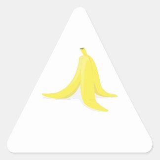 Cáscara del plátano pegatina triangular