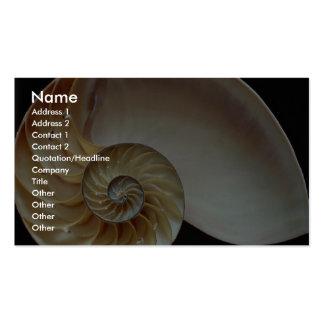 Cáscara magnífica del nautilus tarjetas de visita
