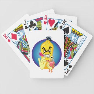 Cáscara malvada del plátano baraja cartas de poker
