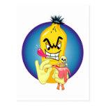 Cáscara malvada del plátano postal