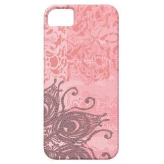 Cáscara plástica flexible del damasco coralino del iPhone 5 carcasa