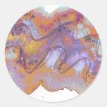 Cáscara púrpura oxidada de Baros Etiquetas