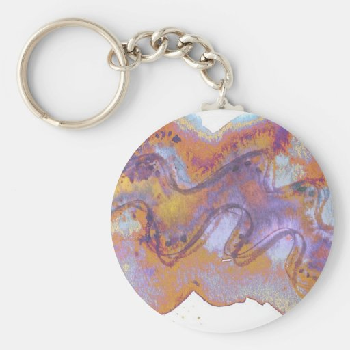 Cáscara púrpura oxidada de Baros Llavero Redondo Tipo Pin
