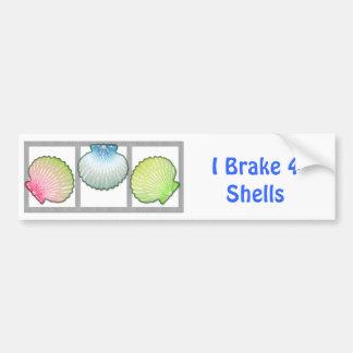 Cáscaras de concha de peregrino en colores pastel pegatina para auto