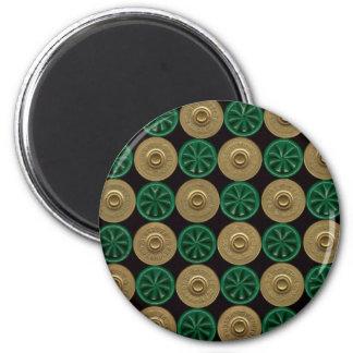 cáscaras de escopeta verdes imán redondo 5 cm