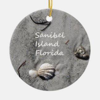 Cáscaras de la arena de la isla de Sanibel Ornamentos De Reyes