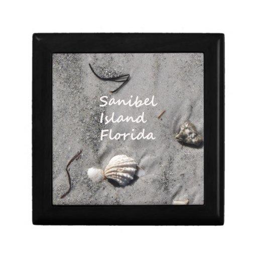 Cáscaras de la arena de la isla de Sanibel Caja De Recuerdo