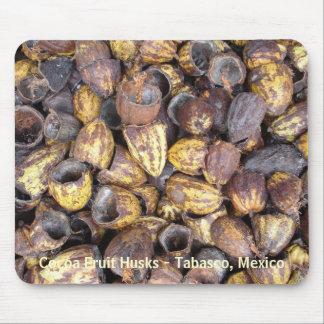 Cáscaras de la fruta del cacao - Tabasco México Tapetes De Ratones