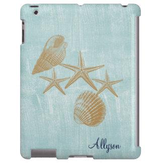 Cáscaras de la playa funda para iPad