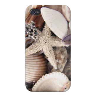 Cáscaras de la playa iPhone 4 coberturas