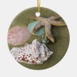 Cáscaras de los pescados N de la estrella Ornamento Para Arbol De Navidad