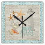 Cáscaras del faro de la acuarela - décor de la cab reloj de pared