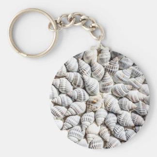 cáscaras del mar llavero redondo tipo pin