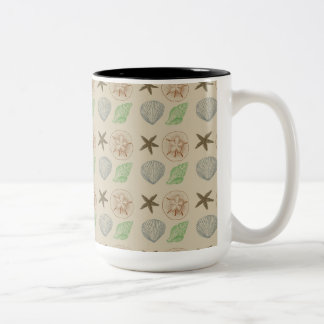 Cáscaras del vintage taza de dos tonos