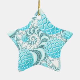 Cáscaras divinas del mar, playa en colores pastel adorno de cerámica en forma de estrella