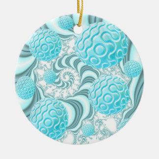 Cáscaras divinas del mar, playa en colores pastel adorno redondo de cerámica