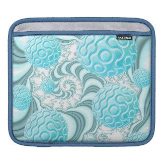 Cáscaras divinas del mar playa en colores pastel manga de iPad