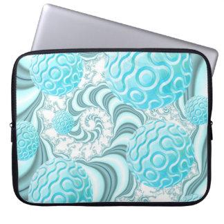 Cáscaras divinas del mar playa en colores pastel fundas portátiles